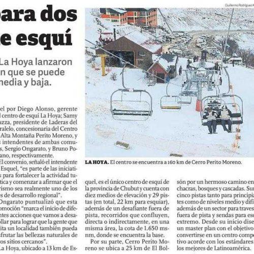Repercusión en los medios de la propuesta de invierno de Esquel
